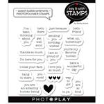 Speech Bubble Sentiments Stamp Set - Say It With Stamps - Photoplay
