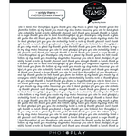 Scripty Thanks Background Stamps - Say It With Stamps - Photoplay