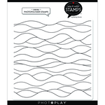 Waves Background Stamps - Say It With Stamps - Photoplay