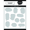 Speech Bubbles Stencil - Say it With Stamps - Photoplay