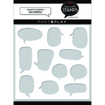 Speech Bubbles Stencil - Say it With Stamps - Photoplay - PRE ORDER