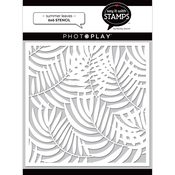 Summer Leaves Stencil - Say it With Stamps - Photoplay