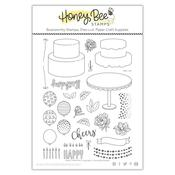 Fancy Frosting 6x8 Stamp Set - Honey Bee Stamps