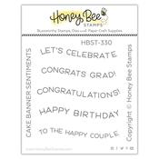 Cake Banner Sentiments 2x2 Stamp Set - Honey Bee Stamps