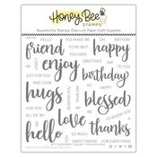 Bitty Buzzwords 6x6 Stamp Set - Honey Bee Stamps