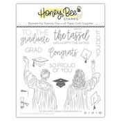 Cap And Gown 6x6 Stamp Set - Honey Bee Stamps