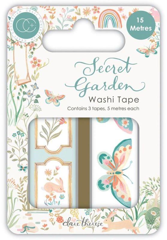 Secret Garden Washi Tape - Craft Consortium - Secret Garden