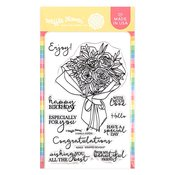 Wrapped Bouquet Stamp Set - Waffle Flower Crafts