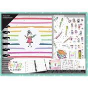 Stick Girl Happy Planner 12 Month Dated Classic Teacher Planner Kit