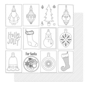 Color Me Ornaments Paper - The North Pole Trading Co. - Photoplay
