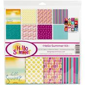 Hello Summer 12x12 Collection Kit - Reminisce - PRE ORDER