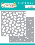 Tulla & Norbert's Christmas Party Holly Berry Stencil 2-Piece - Photoplay