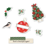 Merry & Bright Chipboard Thickers - Warm Wishes - Vicki Boutin