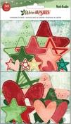 Warm Wishes Chipboard Stars & Hearts Stickers - Vicki Boutin