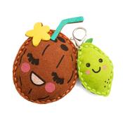 Lime & Coconut Felt Keychain Kit - Sew Cute - Colorbök