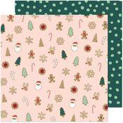 Christmas Cookies Paper - Busy Sidewalks - Crate Paper