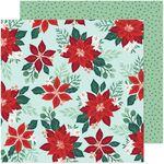 Pretty Poinsettia Paper - Busy Sidewalks - Crate Paper