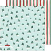 Christmas Tree Farm Paper - Busy Sidewalks - Crate Paper