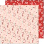 Candy Cane Christmas Paper - Busy Sidewalks - Crate Paper