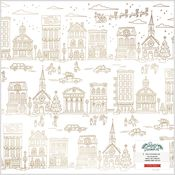 Busy Sidewalks Acetate & Gold Foil Specialty Paper - Crate Paper