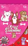 Happy Valentine Sticker Book - Silver Lead
