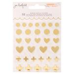 Peaceful Heart Mirror Acrylic Stickers - Jen Hadfield - PRE ORDER