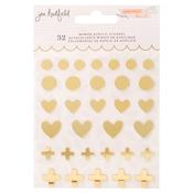 Peaceful Heart Mirror Acrylic Stickers - Jen Hadfield