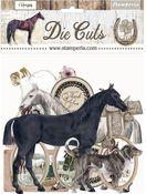 Romantic Horses Assorted Die Cuts - Stamperia - PRE ORDER