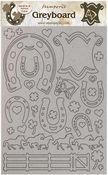 Horseshoes Greyboard Cut-Outs - Romantic Horses - Stamperia - PRE ORDER