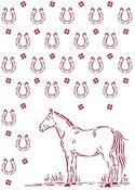 Pattern Stencil - Romantic Horses - Stamperia - PRE ORDER