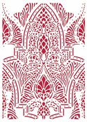 Saddle Pattern Stencil - Romantic Horses - Stamperia - PRE ORDER