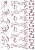 Running Horses Stencil - Romantic Horses - Stamperia - PRE ORDER