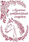 Horse with Flowers Stencil - Romantic Horses - Stamperia - PRE ORDER
