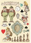 Chessboard Colored Wooden Frame - Alice Through The Looking Glass - Stamperia