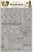 Elements Greyboard Cut Outs - Alice Through The Looking Glass - Stamperia - PRE ORDER