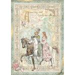 Prince On Horse Rice Paper - Sleeping Beauty - Stamperia