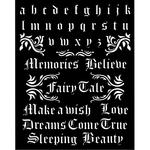 Alphabet & Quotes Stencil - Sleeping Beauty - Stamperia