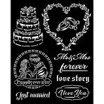 Just Married Stencil - Sleeping Beauty - Stamperia