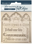 Quotes Decorative Chips - Sleeping Beauty - Stamperia
