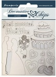 Just Married Decorative Chips - Sleeping Beauty - Stamperia