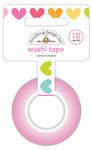 Rainbow Hearts Washi Tape - Cute & Crafty - Doodlebug