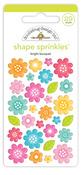 Bright Bouquet Shape Sprinkles - Cute & Crafty - Doodlebug - PRE ORDER