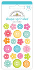 Cute As A Button Shape Sprinkles - Cute & Crafty - Doodlebug