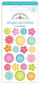 Cute As A Button Shape Sprinkles - Cute & Crafty - Doodlebug - PRE ORDER
