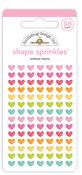 Rainbow Hearts Shape Sprinkles - Cute & Crafty - Doodlebug - PRE ORDER