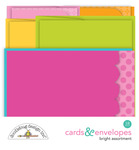 Cute & Crafty Bright Assorted Cards & Envelopes - Doodlebug