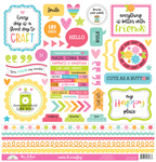 Cute & Crafty This & That Sticker Sheet - Doodlebug