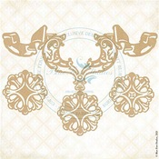Bella's Amulet Chipboard Pieces - Fairy Whisper - Blue Fern Studios