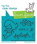 Mermaid For You Flip Flop Clear Stamps - Lawn Fawn