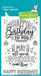 Giant Birthday Messages Clear Stamps - Lawn Fawn